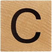 C Wood Alphabet Tile - 2 Inch