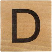 D Wood Alphabet Tile - 2 Inch