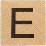 E Wood Alphabet Tile - 2 Inch