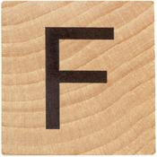 F Wood Alphabet Tile - 2 Inch
