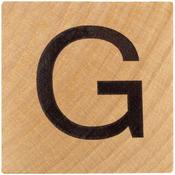 G Wood Alphabet Tile - 2 Inch