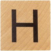 H Wood Alphabet Tile - 2 Inch