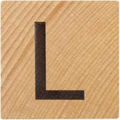 L Wood Alphabet Tile - 2 Inch