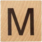 M Wood Alphabet Tile - 2 Inch