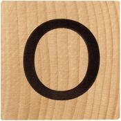 O Wood Alphabet Tile - 2 Inch