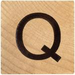 Q Wood Alphabet Tile - 2 Inch