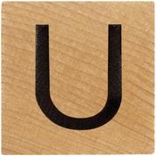 U Wood Alphabet Tile - 2 Inch