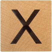 X Wood Alphabet Tile - 2 Inch