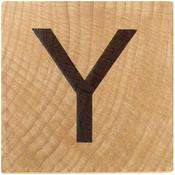Y Wood Alphabet Tile - 2 Inch