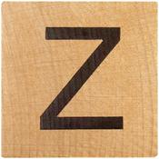 Z Wood Alphabet Tile - 2 Inch