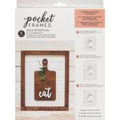 Eat W/Insert American Crafts Pocket Frames Insert Kit