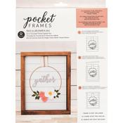 Gather Wreath W/Insert American Crafts Pocket Frames Insert Kit