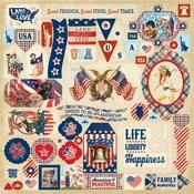 Liberty Details Sticker Sheet - Authentique