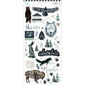 Heidi Swapp Wolf Pack Cardstock Stickers