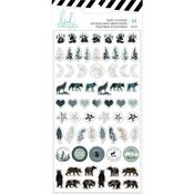 Heidi Swapp Wolf Pack Puffy Stickers