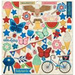 Celebrating Freedom Chipboard Stickers