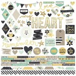 Heart Combo Sticker Sheet - Simple Stories