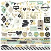 Heart Combo Sticker Sheet - Simple Stories - PRE ORDER