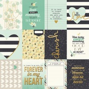 3x4 Elements Foil Paper - Heart - Simple Stories - PRE ORDER
