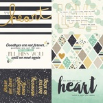4x6 Elements Foil Paper - Heart - Simple Stories