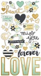Heart Chipboard Stickers - Simple Stories - PRE ORDER
