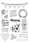 Heart Clear Stamps - Simple Stories