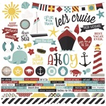 Cruisin' Combo Sticker Sheet - Simple Stories