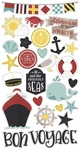 Cruisin' Chipboard Stickers - Simple Stories