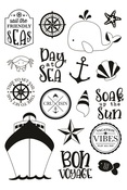 Cruisin' Set Sail Clear Stamps - Simple Stories - PRE ORDER