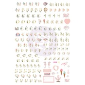 Golden Coast Alphabet stickers - Prima