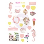 Golden Coast Puffy Stickers - Prima