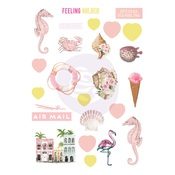 Golden Coast Puffy Stickers - Prima