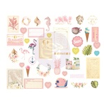 Golden Coast Chipboard Stickers - Prima