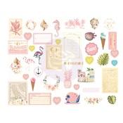 Golden Coast Chipboard Stickers - Prima