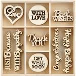 With Love Wood Flourishes - KaiserCraft