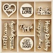 With Love Wood Flourishes - KaiserCraft