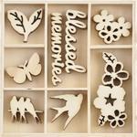 Morning Dew Wood Flourishes - KaiserCraft