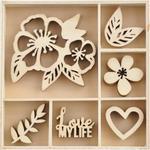 Magenta Wood Flourishes - KaiserCraft