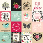 3X3 Journaling Cards Paper - Forward With Faith - Echo Park
