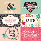 6X4 Journaling Cards Paper - Forward With Faith - Echo Park