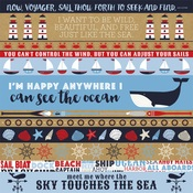 Border Strips Paper - Deep Blue Sea - Carta Bella