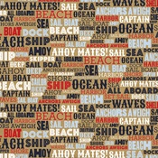 Ahoy Mates Paper - Deep Blue Sea - Carta Bella - PRE ORDER