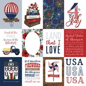 3X4 Journaling Cards Paper - America The Beautiful  - Echo Park