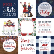 4X4 Journaling Cards Paper - America The Beautiful  - Echo Park