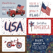 4X6 Journaling Cards Paper - America The Beautiful  - Echo Park