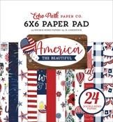 America The Beautiful 6x6 Paper Pad - Carta Bella