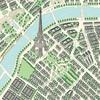 Map of Paris Paper - En Vogue - Carta Bella