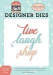 Live, Laugh, Shop Word Die Set - Carta Bella