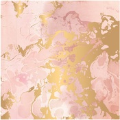 Indigo & Ivy Gold Foiled Paper - Pink Paislee