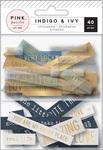 Indigo & Ivy Chipboard & Acetate Ephemera - Pink Paislee